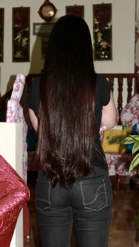 butt-length hair