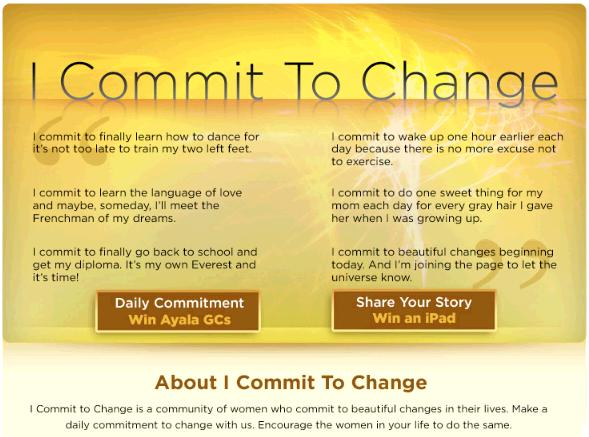 i commit to change