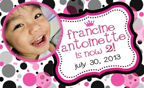 Francine - giveaway tag