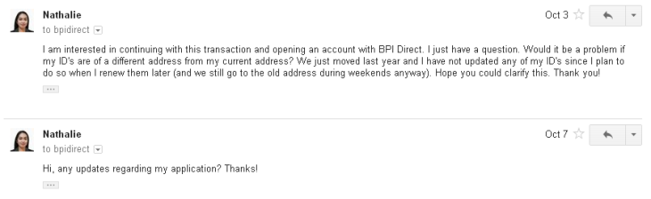 BPI Direct email reply