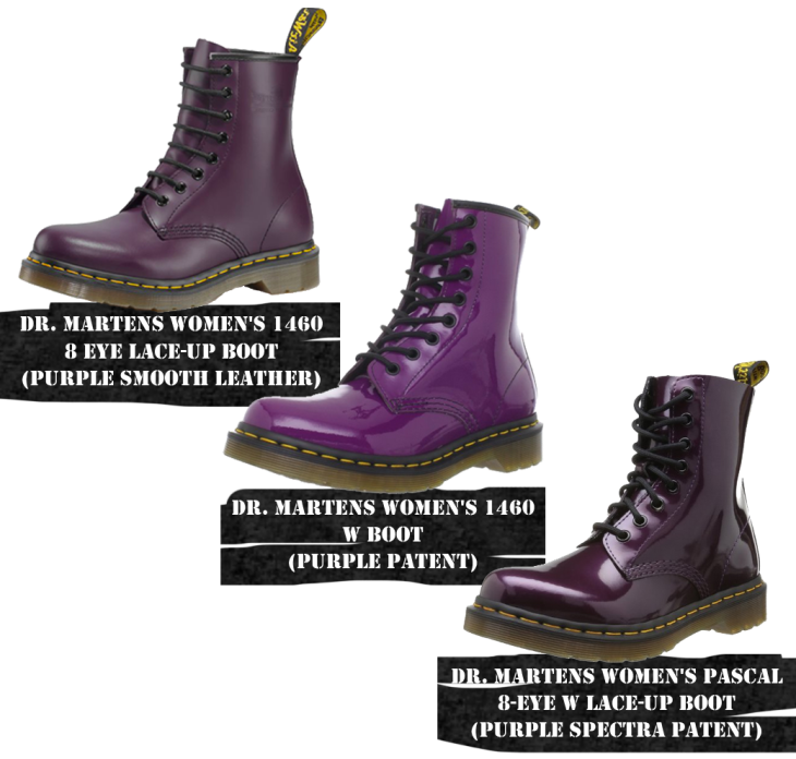 purple Doc Martens boots