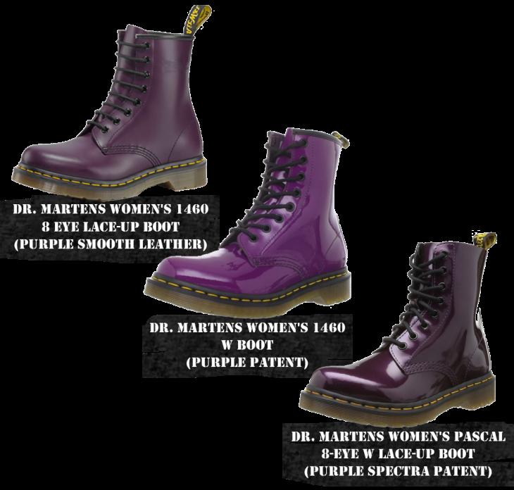 purple Doc Martens boots