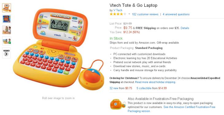 Vtech Tote & Go Laptop - Orange