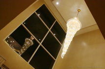CML Beach Resort & Water Park lobby chandelier